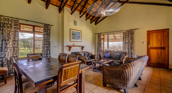 Mpila Camp 7 bed Cottage Self Catering Accommodation Hluhluwe iMfolozi Game Reserve